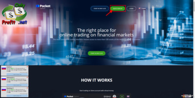 Best binary options broker Pocket Option: Quick sign-up