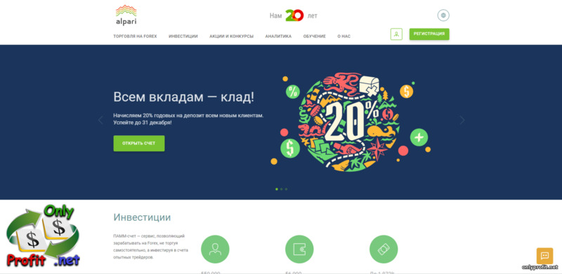 Alpari - торговая платформа лучшего брокера 2021